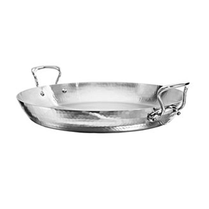 パエリアパン 40cm 6L ステンレス 5層 IH対応 ムビエル フランス Mauviel 5277.40 M'Elite Paella pan