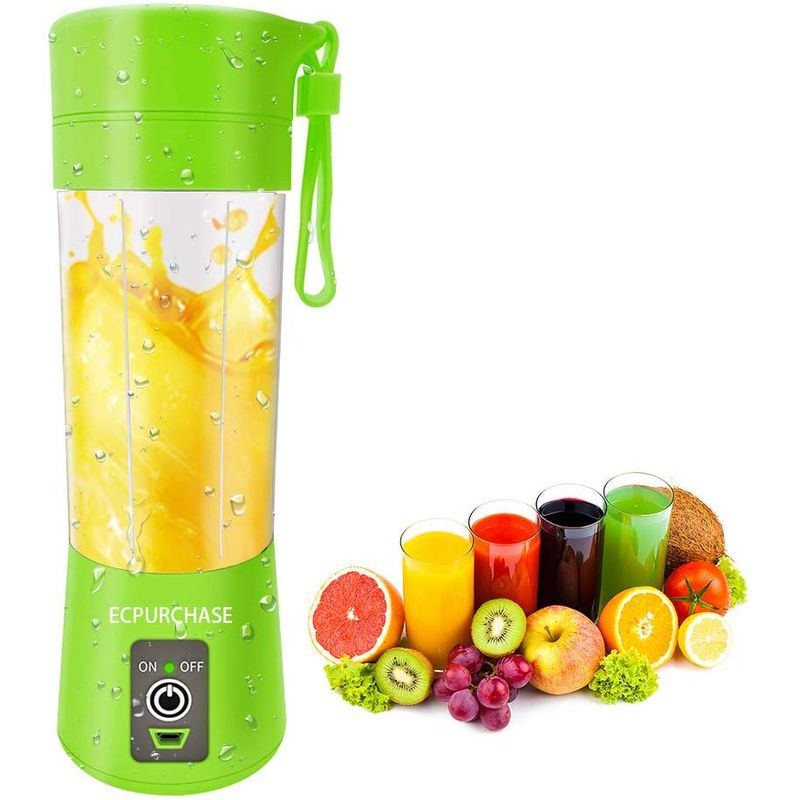 USB充電式 携帯用ブレンダー ミキサー ミニ ポータブル 400ml BPAフリー アウトドア キャンプ Portable Blender Single Serve, Personal Size Blender USB Rechargeable Juicer Cup Fruit Mixing Machine Baby Travel FDA, BPA-Free 家電