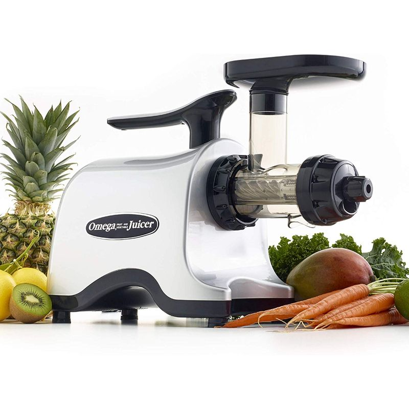 スロージューサー ツインギア シルバー オメガ Omega Juicer TWN30S Twin Masticating Juicer with Stainless Steel Gears and Low Speed, 150-Watt, Silver 家電