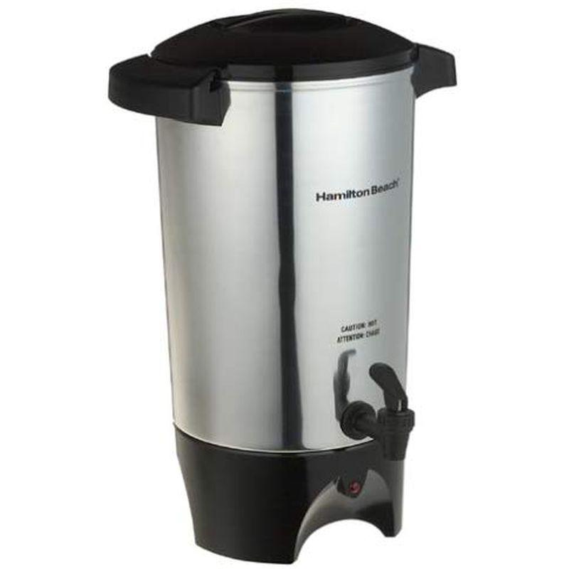 大きいコーヒーメーカー コーヒーサーバー 12-42カップ ホテル パーティ ホテル ハミルトンビーチ Hamilton Beach 45 Cup Coffee Urn and Hot Beverage Dispenser, Silver (40515R) 家電