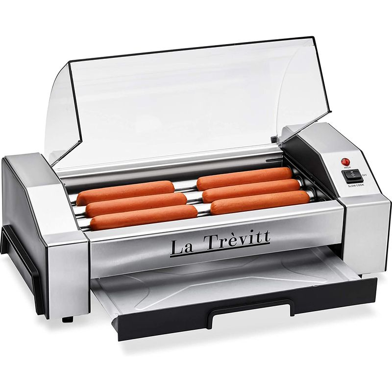 ホットドッグローラー ソーセージグリル 6本焼き La Trevitt Hot Dog Roller- Sausage Grill Cooker Machine- 6 Hot Dog Capacity 家電