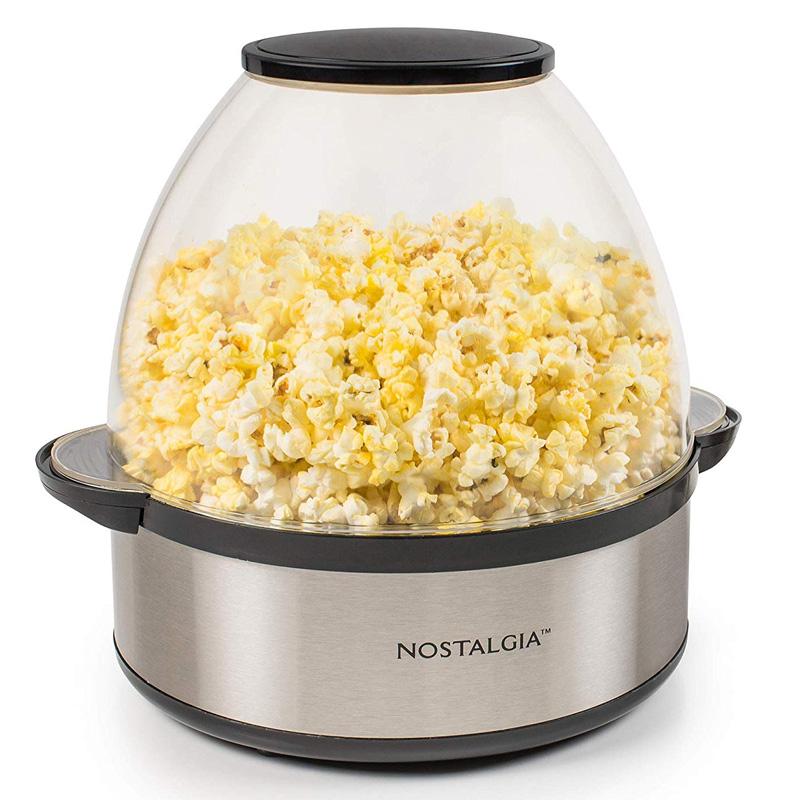 ポップコーンメーカー ステンレス 5.7L ドーム型 ノスタルジア Nostalgia SP660SS 6-Quart Stainless Steel Stirring Speed Popcorn Popper 家電