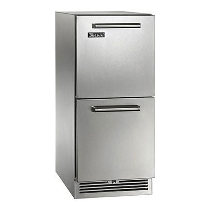 冷蔵庫 ビルトイン アンダーカウンター 79L ステンレス 幅38cm 引き出し式 Undercounter Outdoor Refrigerator Drawers with 2.8 cu. ft. Capacity, Front-Vented RAPIDcool Cooling System HP15RO36 家電