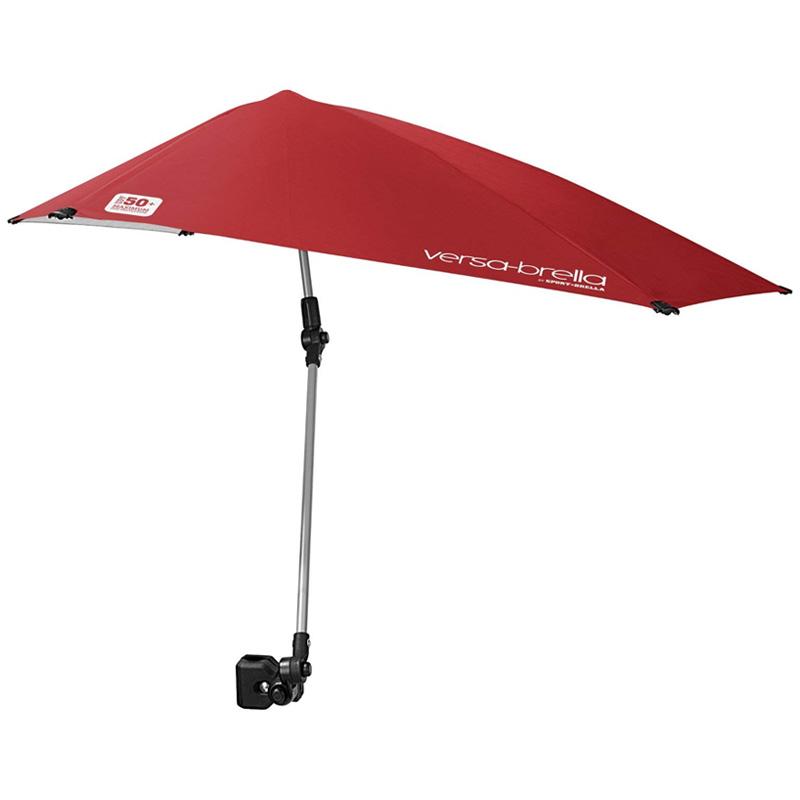 クリップ付日傘 紫外線防止 アウトドア キャンプ ゴルフ スポーツ Sport-Brella Versa-Brella SPF 50+ Adjustable Umbrella with Universal Clamp