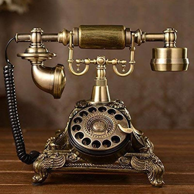 電話 ダイヤル式 レトロ アンティーク ビンテージ メタル XICHEN Resin imitation copper Vintage STYLE ROTARY Retro old fashioned Rotary Dial Home and office Telephone