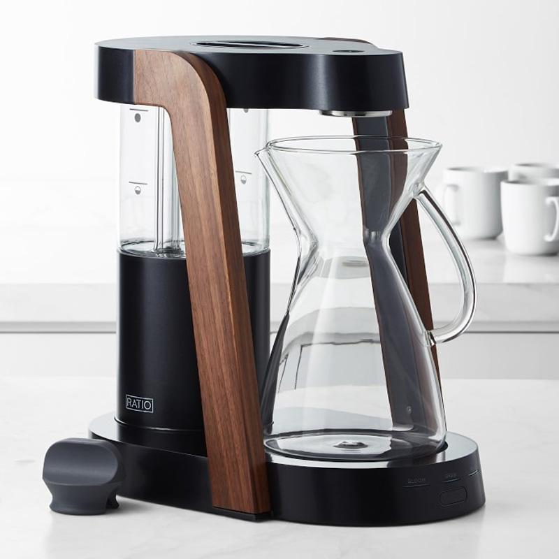 コーヒーメーカー 1.2L ガラスカラフェ ウッド 木目 Ratio Eight Cobalt Glass Coffee Maker 家電
