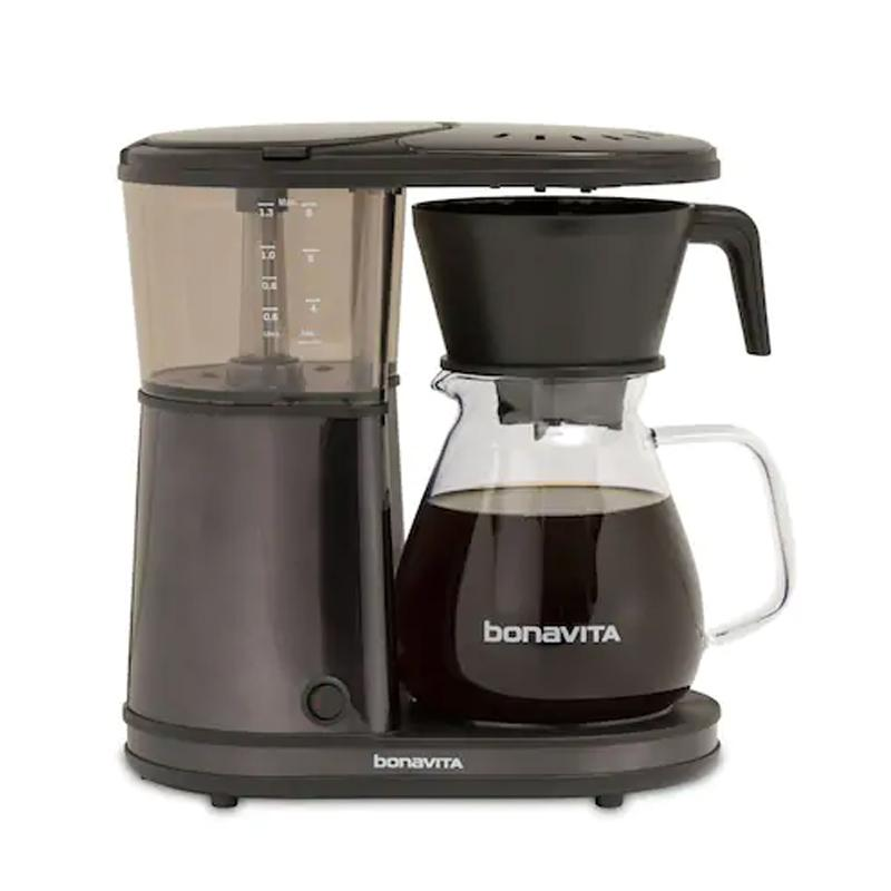 コーヒーメーカー ガラスカラフェ 8カップ ワンタッチ ブラックステンレス ボナビータ Kohl's限定 Kohl's Bonavita 8-Cup One-Touch Black Stainless Steel Coffee Maker 家電