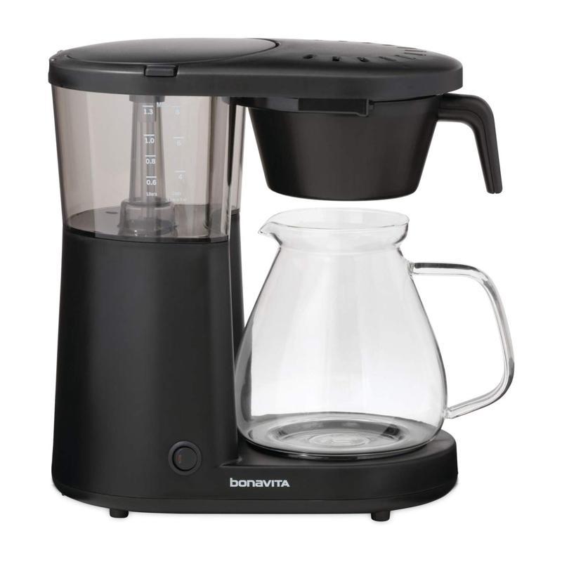 コーヒーメーカー ガラスカラフェ 8カップ ワンタッチ ブラック ボナビータ Bonavita BV1901PW Metropolitan One-Touch Coffee Brewer 家電