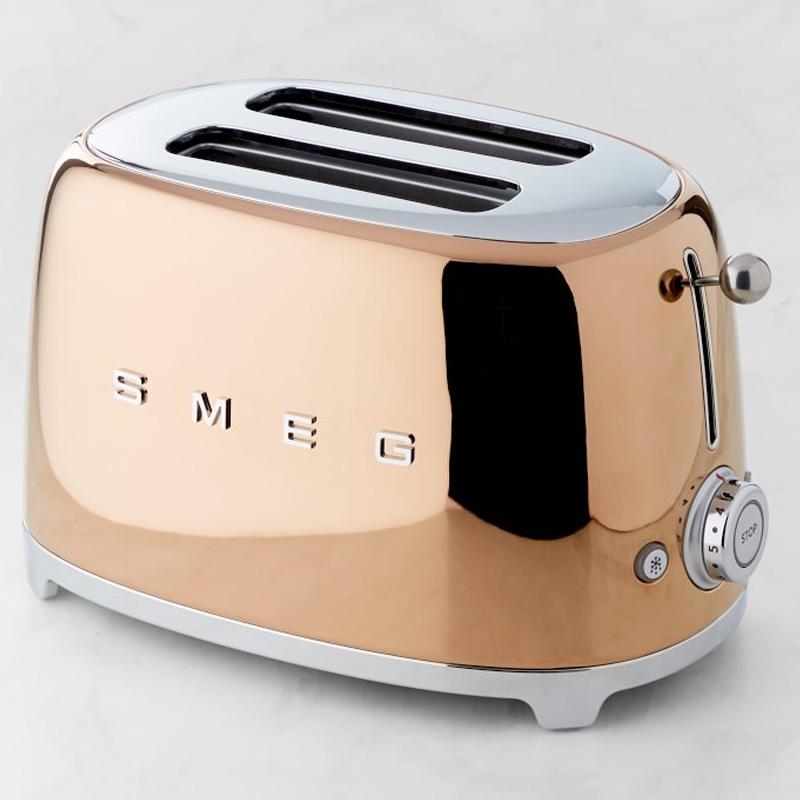 トースター 2枚焼 スメッグ ウイリアムズ・ソノマ 銅 カッパー コッパー Williams-Sonoma Smeg 2-Slice Toaster, Copper TSF01RGUS 家電