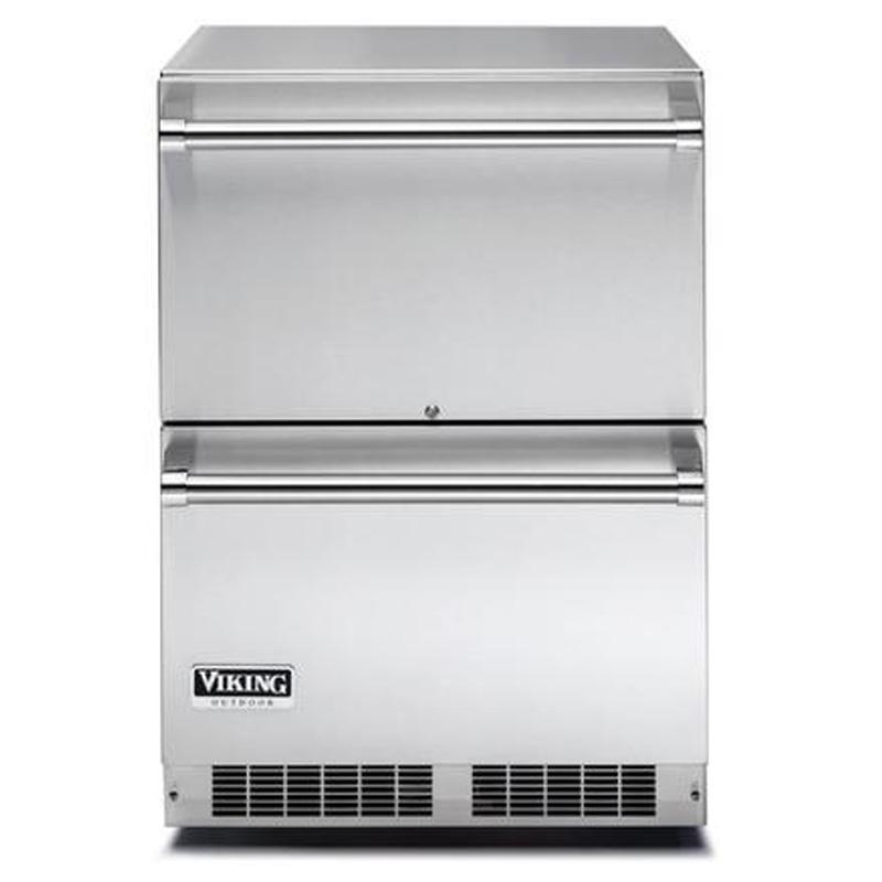 冷蔵庫 2段 引き出し式 ステンレス Viking VDUO5240DSS 家電