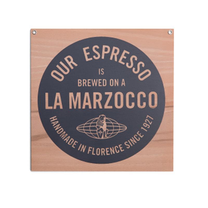 ラ・マルゾッコ ロゴ サイン マーク 23×23cm エスプレッソ カフェ La Marzocco Sign