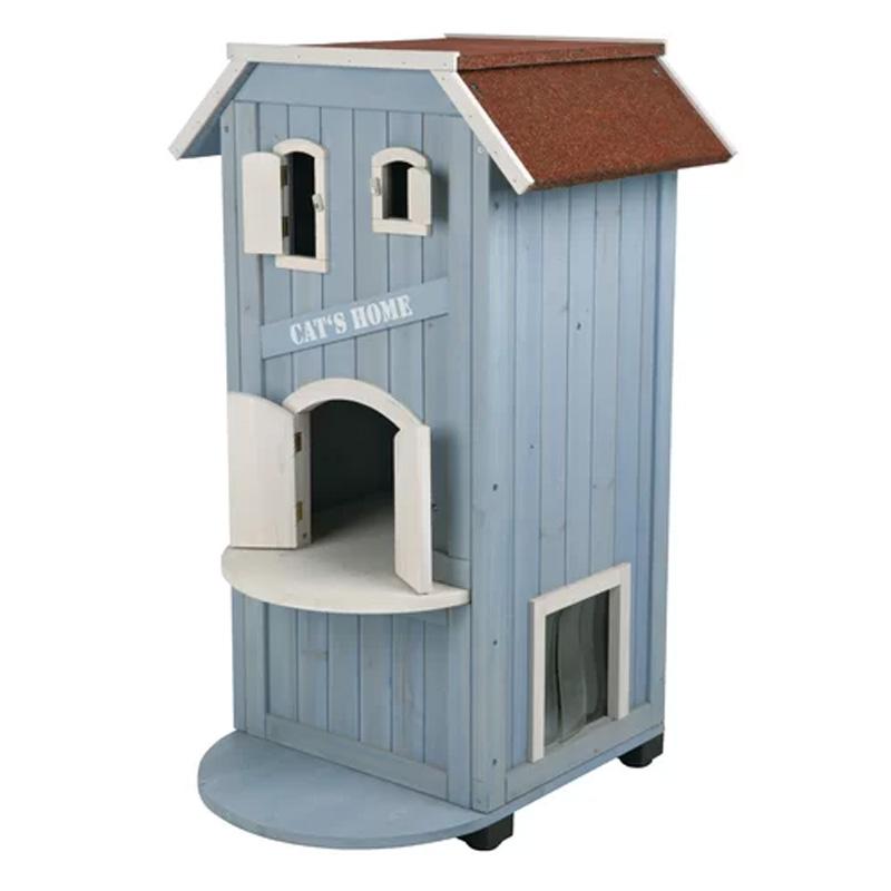 キャットハウス ネコのおうち 高さ94cm 猫 家 小屋 3段 おしゃれ かわいい Archie & Oscar Felecia 3 Story Cat House AOSC1616