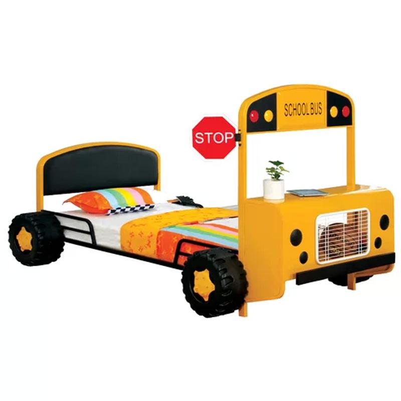 アメリカ スクールバス型 ベッドフレーム 146×245cm 子供 Zoomie Kids Albert Twin Car Bed ZMIE1777
