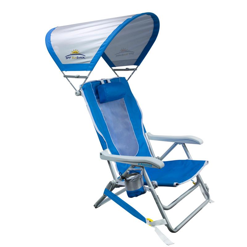 折りたたみ椅子 日よけ付 ビーチチェアー サンシェード チェアー アウトドア キャンプ 海 GCI Outdoor SUNSHADE BACKPACK BEACH CHAIR