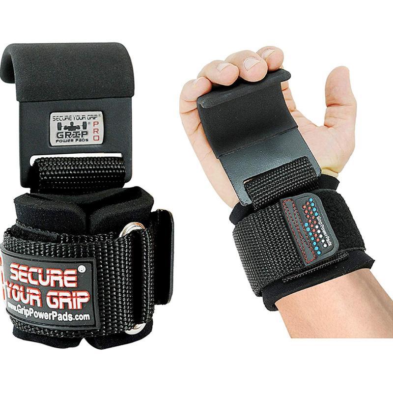 リフティングフック プロ メタル スチール ジム トレーニング 筋トレ Heavy Duty PRO Metal Lifting Steel Hooks Best Power Weightlifting Set of 2 Premium Thick Padded Workout Hook Gloves