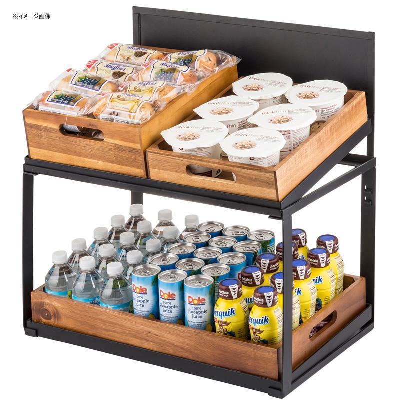ディスプレイスタンド 2段 木箱 カフェ 雑貨 Tablecraft 11000 Two Tier Crate Display 80811000
