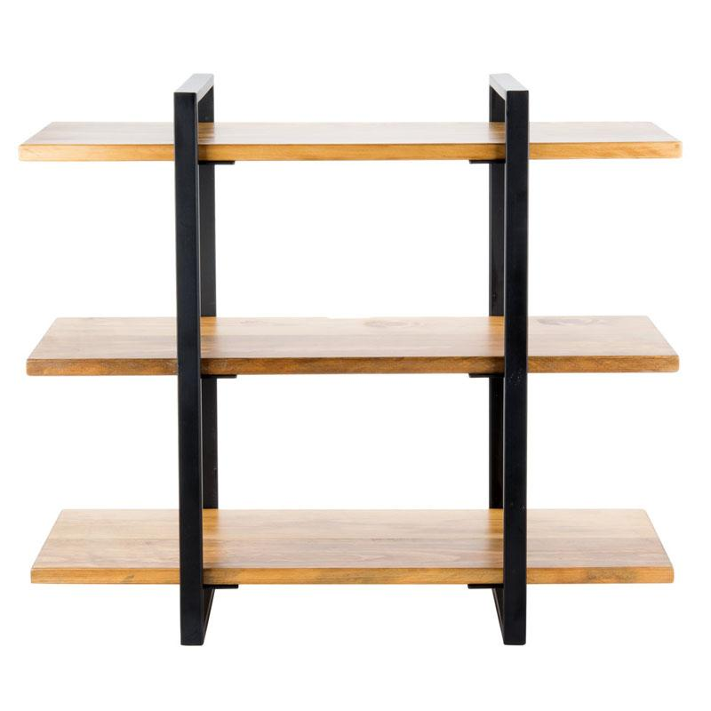 ディスプレイスタンド 角型 3段 メタル 木製プレート パイン材 ライザー カフェ レストラン バイキング ビュッフェ Cal-Mil 1940-99 Madera Rustic Pine 3-Shelf Metal Frame Riser with Black Frame 211194099