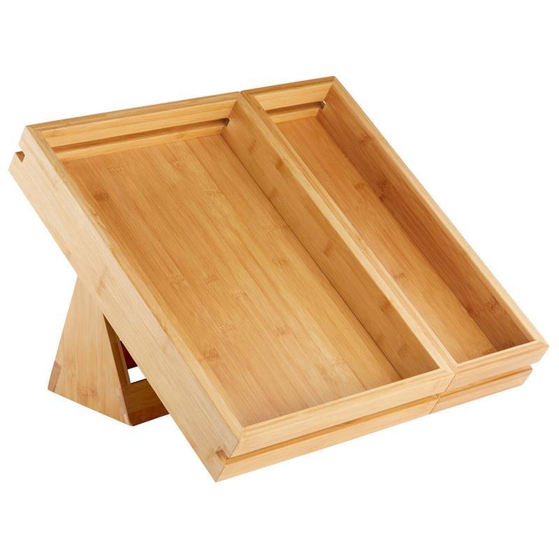 ディスプレイトレイ 49X33cm トレー バンブー 竹 野菜 果物 陳列 ショップ カフェ Rosseto SB111 Natura 3-Piece Tray and Stand Set 640SB111