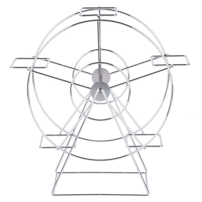 観覧車型 ディスプレイスタンド ラック クロム 5バスケット カフェ レストラン バイキング ビュッフェ Clipper Mill by GET 4-92065 Chrome 5 Basket Ferris Wheel Rack 375492065
