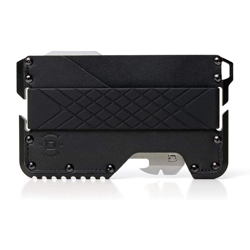 マネークリップ マルチツール カードケース 最大12枚 アルミ レザー使い アメリカ製 RFIDブロック スキミング防止 防犯 財布 ウォレット Dango T01 Tactical EDC Wallet - Made in USA - Genuine Leather, Multitool, RFID Block
