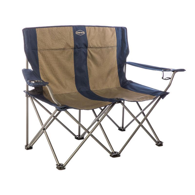折りたたみ 2人用 チェア ドリンクホルダー付 椅子 ベンチ アウトドア キャンプ ビーチ Kamp-Rite Double Folding Chair