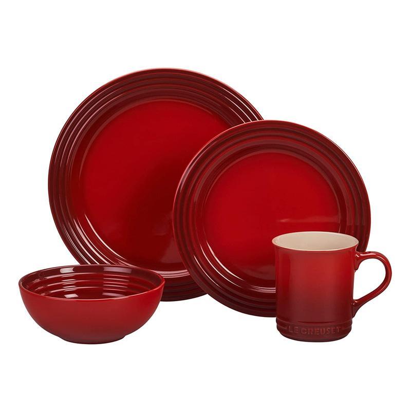 人気の春夏 ル・クルーゼ 16点セット ディナーウェア 食器 16点セット Dinnerware ルクルゼ ルクルーゼ ルクルーゼ Le Creuset PGWSV16-0367 Stoneware Dinnerware Set, 16 Piece, Cerise (Cherry Red), メガネのヒラタ:f057fb24 --- sturmhofman.nl