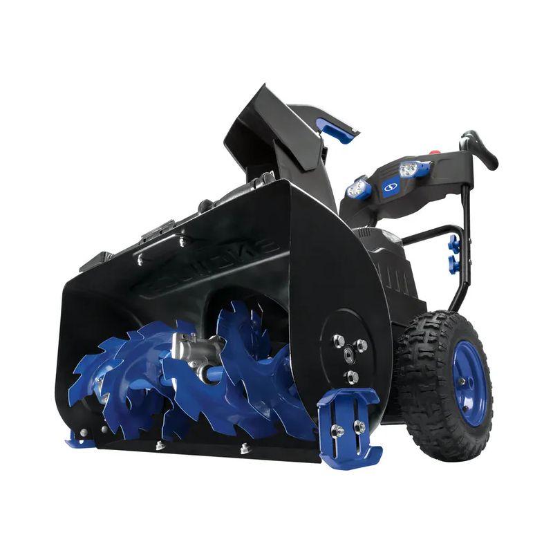 本格 コードレス 自走式 除雪機 雪かき機 充電式 Snow Joe iON8024-XR 80-Volt iONMAX Cordless Two Stage Snow Blower Kit | 24-Inch | 4-Speed | Headlights | W/ 2 x 5.0-Ah Batteries and Charger 家電【代引不可】