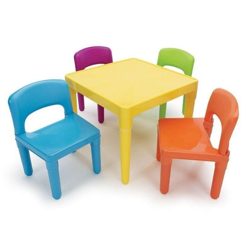 トットチュータース 子供用テーブル イス4点セットTot Tutors Kids' Table and 4 Chair Set, Plastic TC911