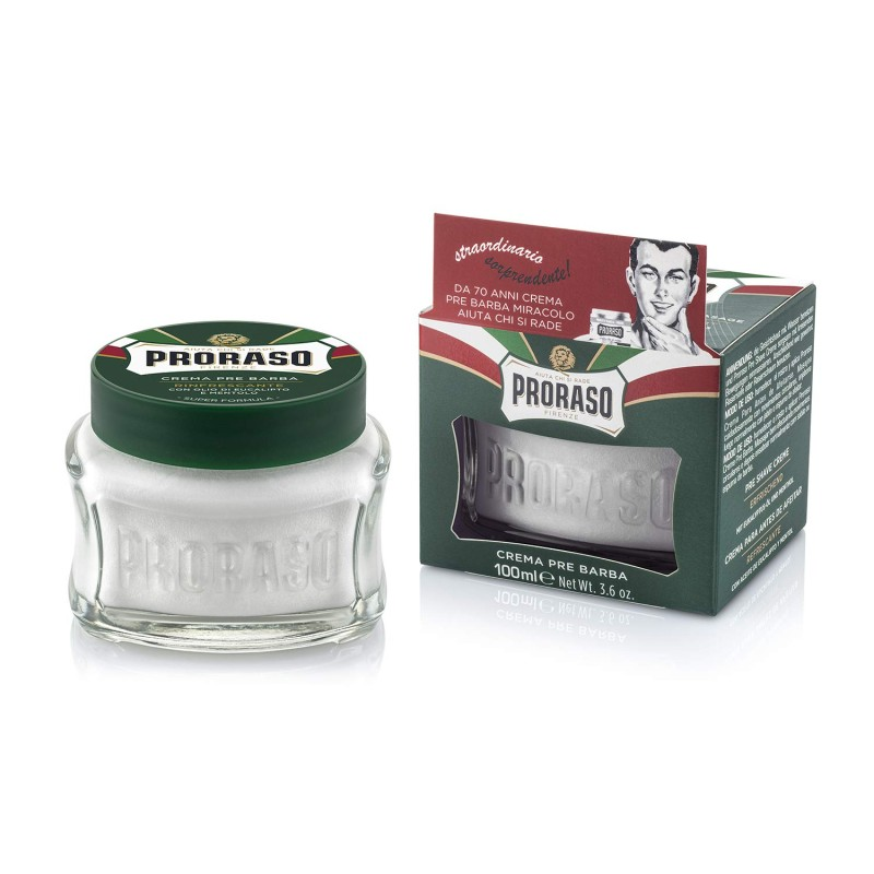 送料無料 Proraso プレシェーブクリーム 全品送料無料 リフレッシュ 100ml イタリア Pre-Shave Refreshing oz Toning Cream 3.6 and 新商品