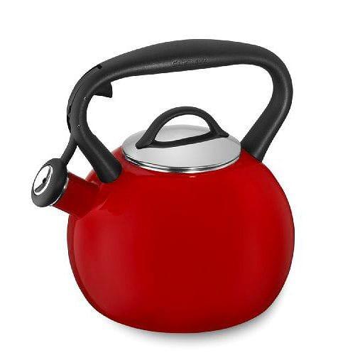 クイジナート ホーロー笛吹きケトル 2L CTK-EOSTRR 赤 Cuisinart Valor 2 Qt. Tea Kettle - Red CTK-EOSTRR