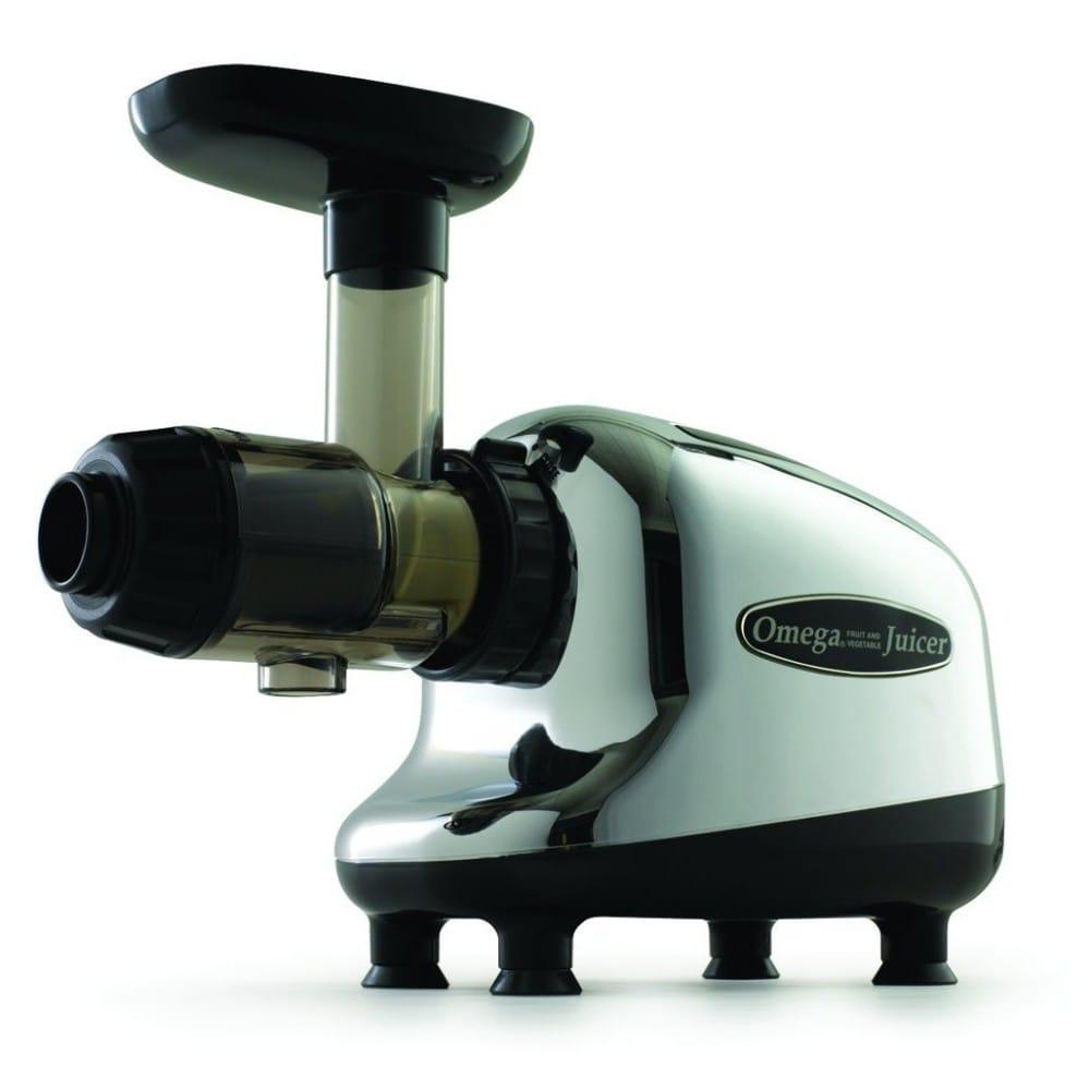 オメガ スロージューサー クロム/ブラック Omega J8005 Nutrition Center Single-Gear Commercial Masticating Juicer, Chrome 家電