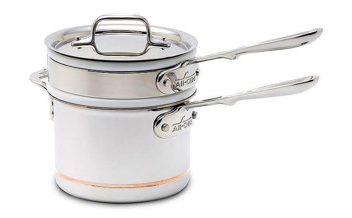 選ぶなら オールクラッド Copper-Core 2L 陶器 片手鍋 メルター 陶器 ダブルボイラー All-Clad Copper-Core Porcelain Porcelain Double Boiler with 2 QT.:アルファエスパス米国店, 合川町:1ba408fa --- nagari.or.id