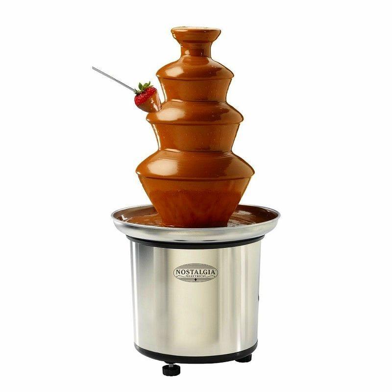 ノスタルジア 3段 ステンレス チョコレートフォンデュ チョコレートファウンテンNostalgia CFF-986 Chocolate Fountain 家電