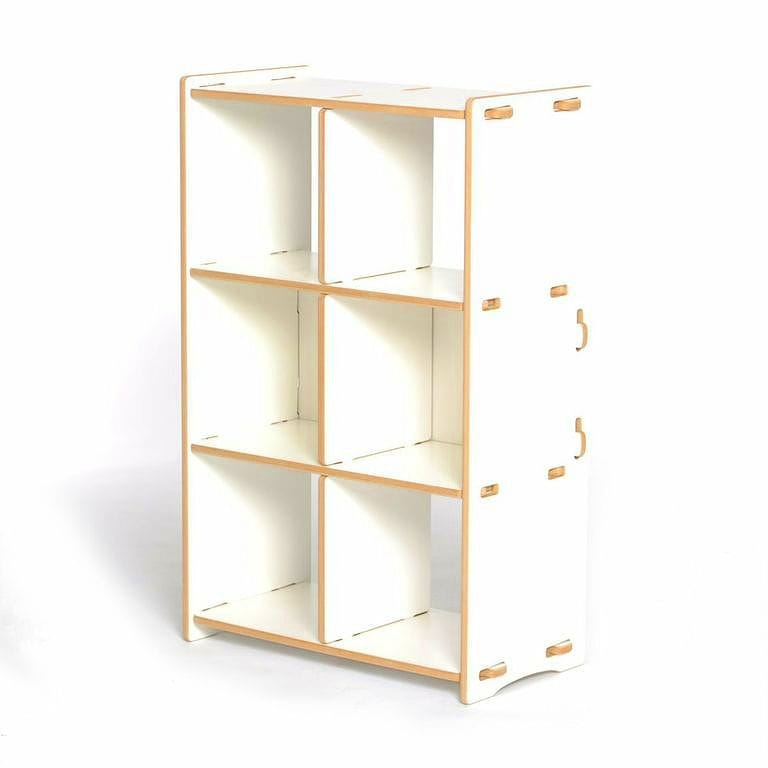 Charmant Shelf Toy Rack Kids Organizer Storage SPROUT White 6 Cubby Organizer Sprout  For The Child