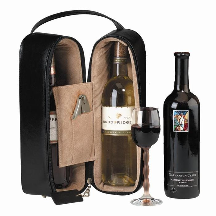 革製ワインケース 2本 Royce Leather Double Wine Presentation Case