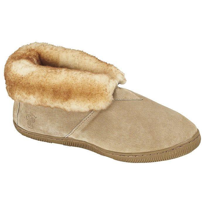 男性用フリーススリッパ Men's Fleece Lined Bootie Slippers