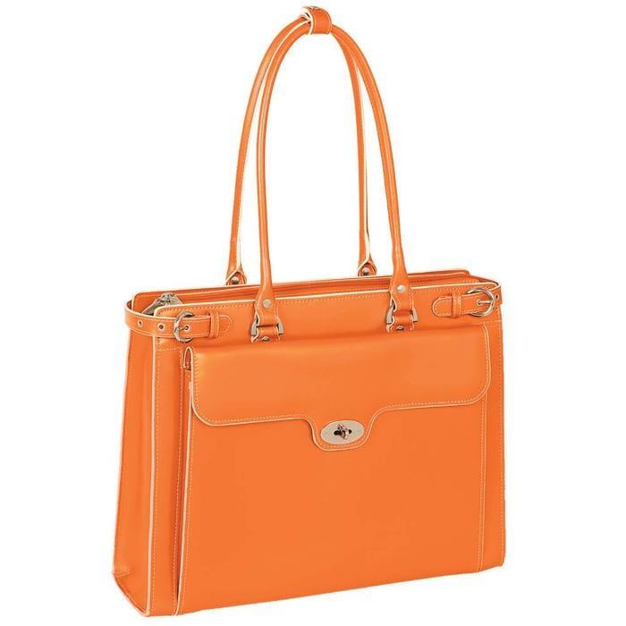 マクレーン イタリア 革バック ブリーフケース McKlein Winnetka Leather Ladies' Briefcase wRemovable SleeveeHbW29IYED