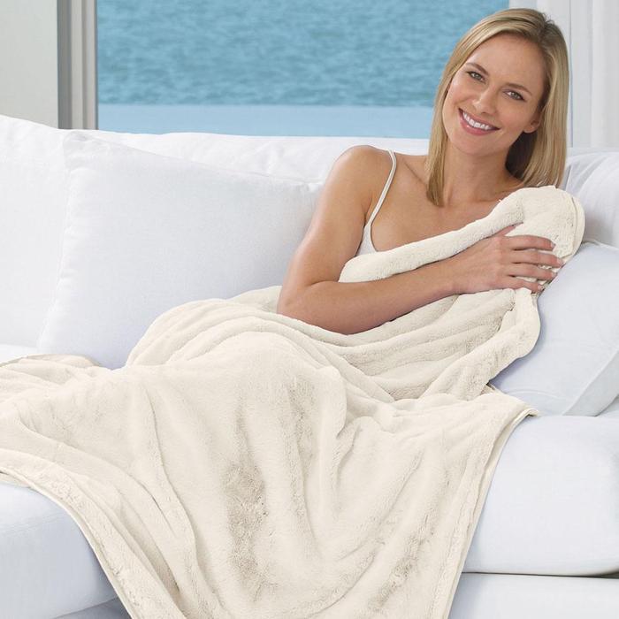 ウルトラソフト ナップ ラックス ブランケット アイボリー n・a・p Luxe Blanket Ivory