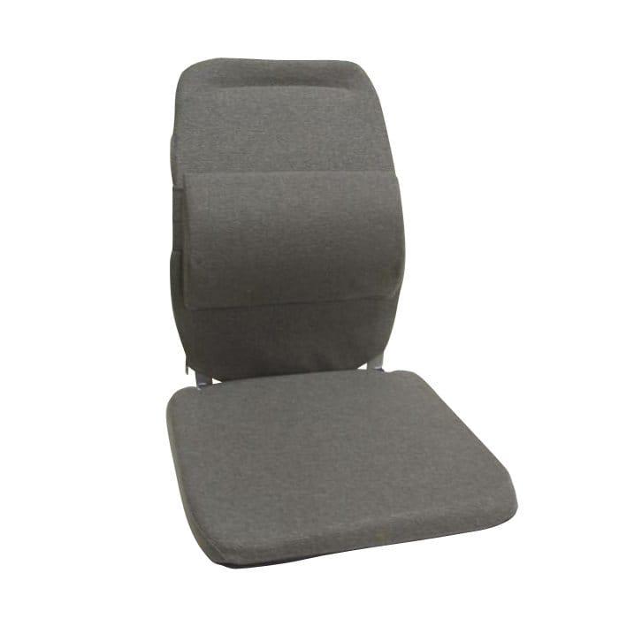 サクロ イース バック アンド 腰 サポート 車用 エクストラ パッディング グレー Sacro-Ease Back and Lumbar Support Car Cushion with Extra Padding Grey