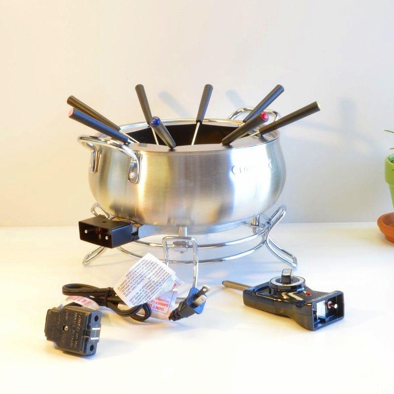 クイジナート 電気チーズフォンデュ チョコレートフォンデュ オイルフォンデュセット 電気フォンデュ鍋Cuisinart CFO-3SS Electric Fondue Maker 家電