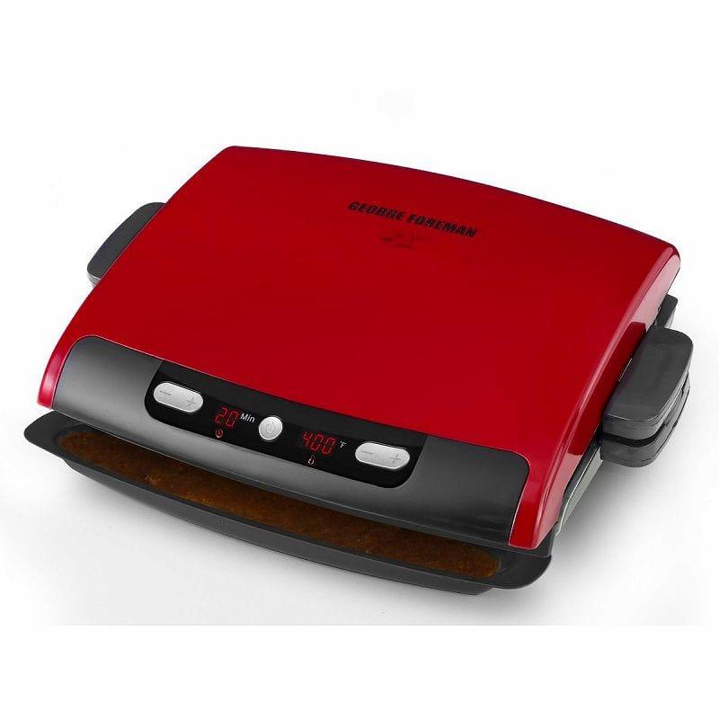 ジョージフォアマン 電気グリル ホットプレート George Foreman GRP95R 100-Inch Removable Plate Grill Red 家電