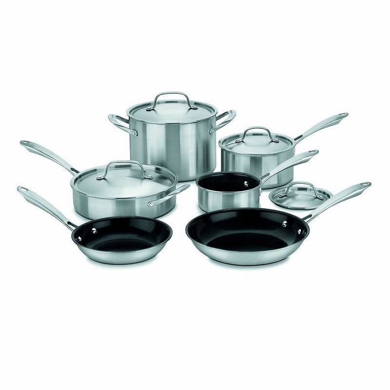 クイジナート セラミック加工 10-Piece Tri-Ply 鍋 フライパン 10点セット Cuisinart GGT-10 GreenGourmet Stainless Tri-Ply Stainless 10-Piece Cookware Set, 【サングラスモール】:0ab7cac0 --- mail.ciencianet.com.ar