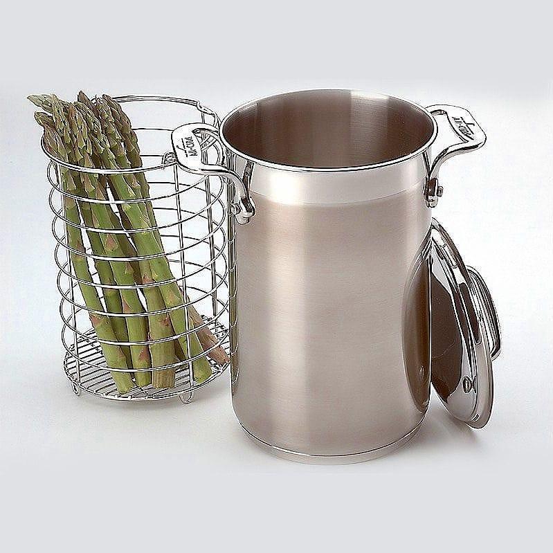 オールクラッド アスパラガスや野菜をゆでる鍋 ポット スチーマーバスケット付 パスタも茹でる All-Clad Stainless Asparagus Pot with Steamer Basket