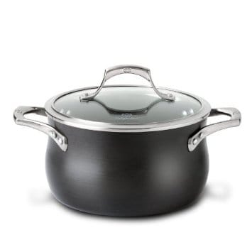 カルファロン 3.8L スープポット PFOAフリー Calphalon Unison Nonstick 4-Quart Soup Pot with Lid 1756064