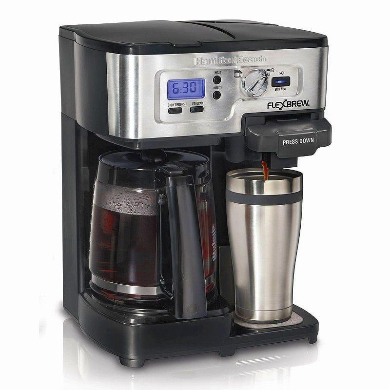 ハミルトンビーチ シングルサーブ コーヒーブリュワー コーヒーメーカー Hamilton Beach Single Serve Coffee Brewer and Full Pot Coffee Maker, FlexBrew (49983A) 家電