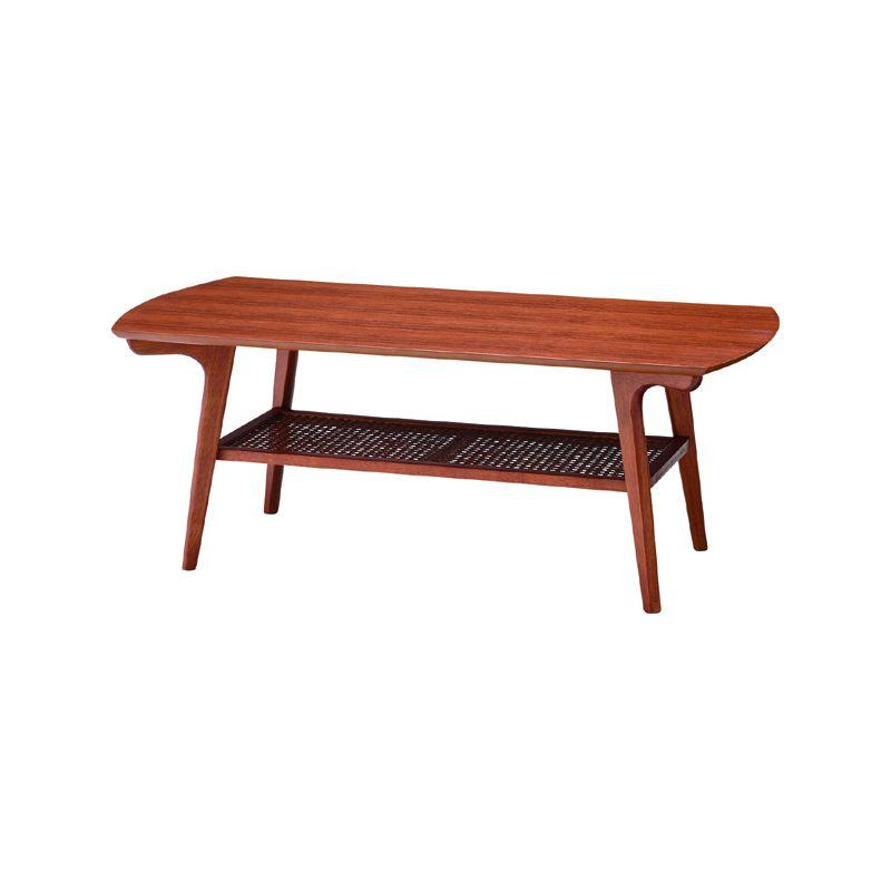 コーヒーテーブル 幅105cm 天然木 センターテーブル