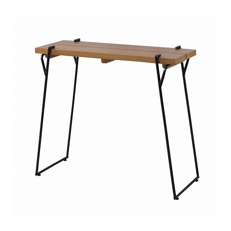 カウンターデスク 幅80cm 天然木 木製 シンプル