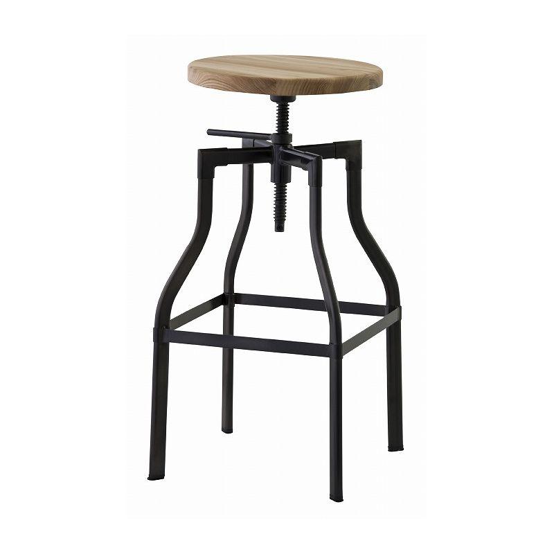 カウンターチェア ラウンド 天然木 丸 バーチェア スツール 椅子 イス ビンテージ アンティーク レトロ