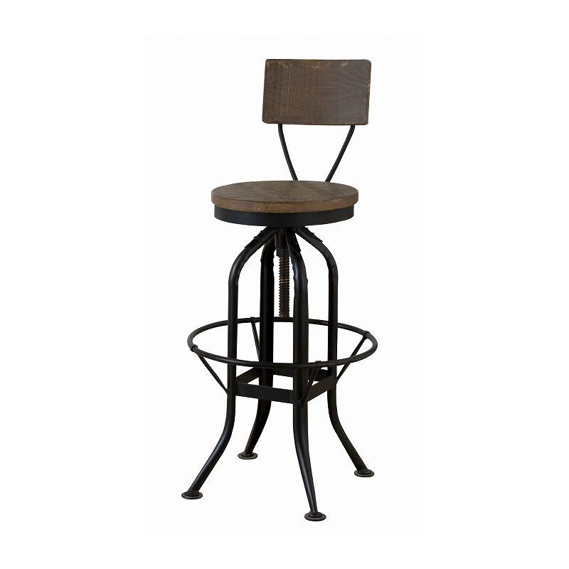 カウンターチェア 背もたれ付 天然木 バーチェア 椅子 いす ビンテージ アンティーク レトロ インダストリアル