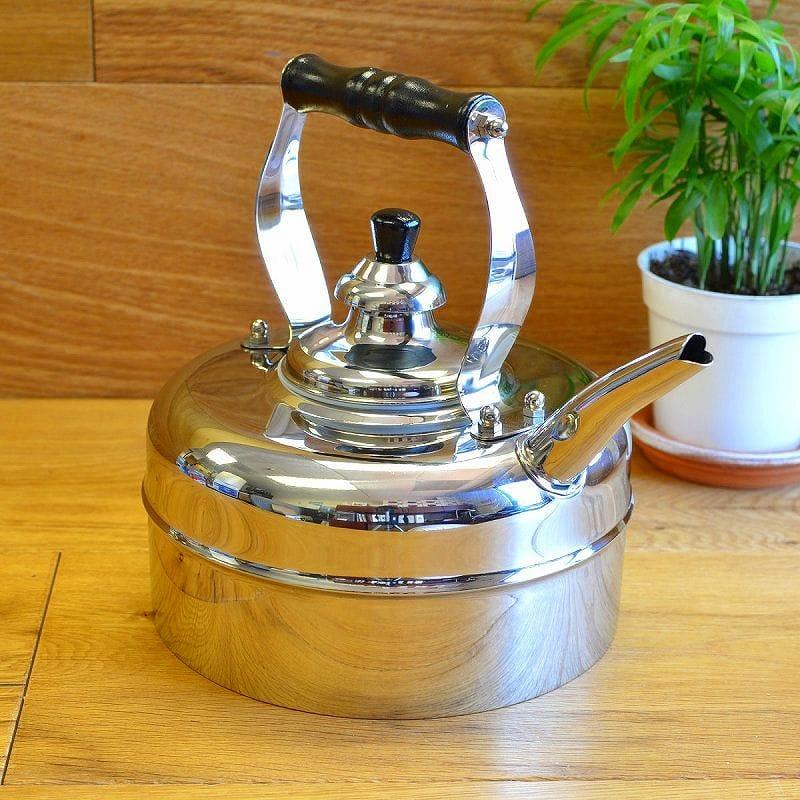 オールドダッチ ステンレス ウィンザー笛吹ケトル 約2.8LOld Dutch 3 Quart Stainless Steel Windsor Whistling Teakettle 601